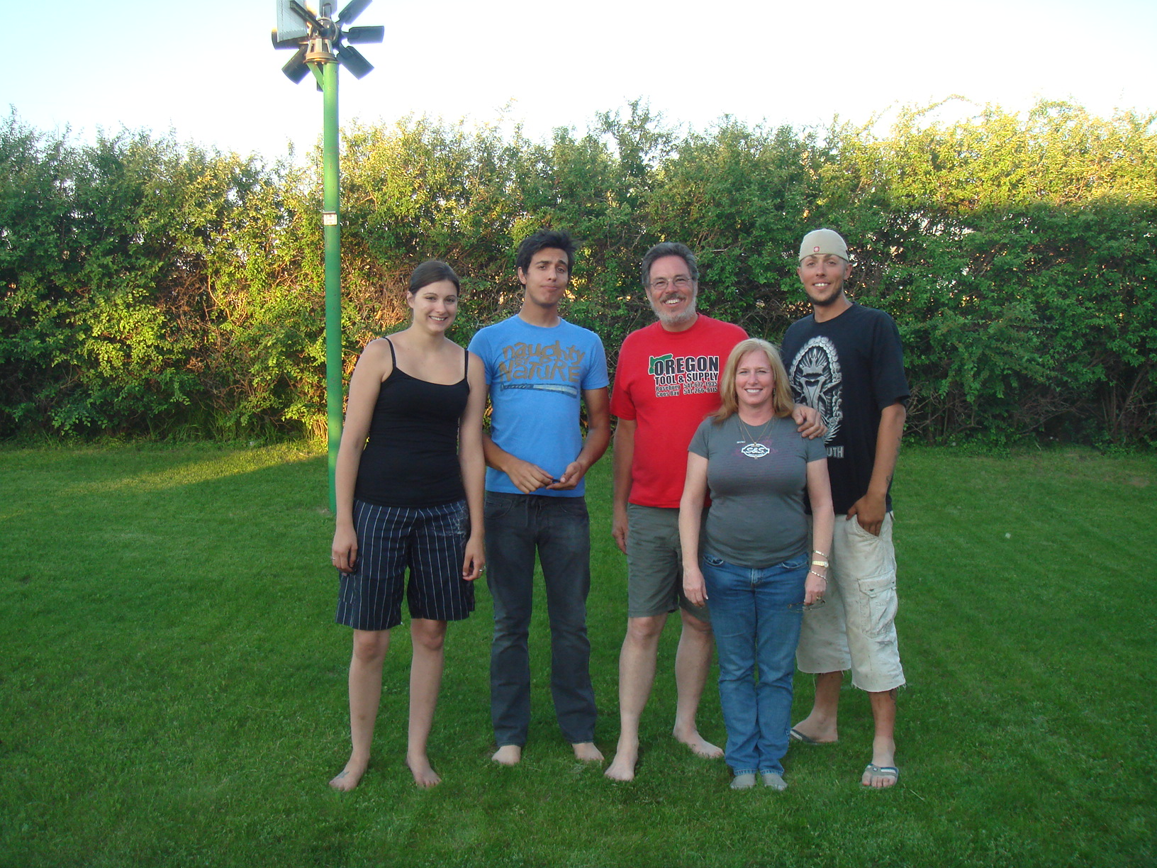 Krista, Jessie, me, Joni & Frank