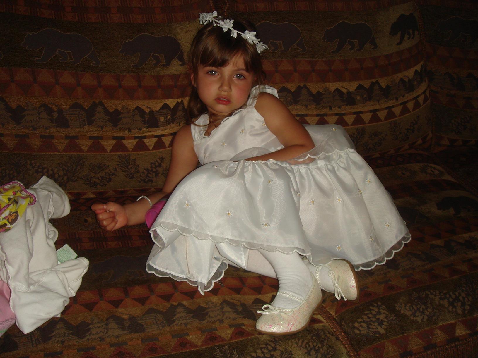 Mike's fiance's daughter, Olivia, flower girl
